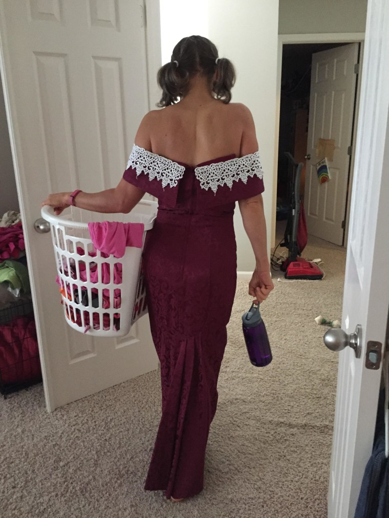 The perfect dress for doing laundry!