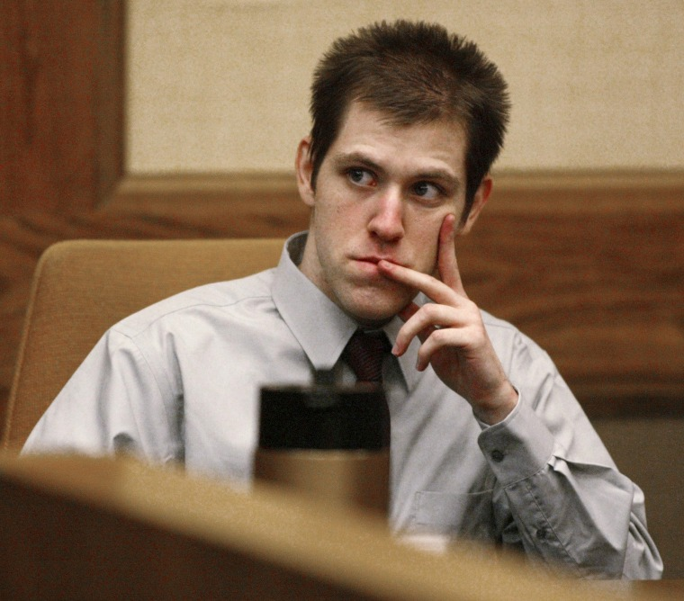 Image: In this March 29, 2007, file photo, William Morva watches as prospective jury members are interviewed to serve in his attempted robbery trial in Montgomery County Circuit Court in Christiansburg, Virginia.