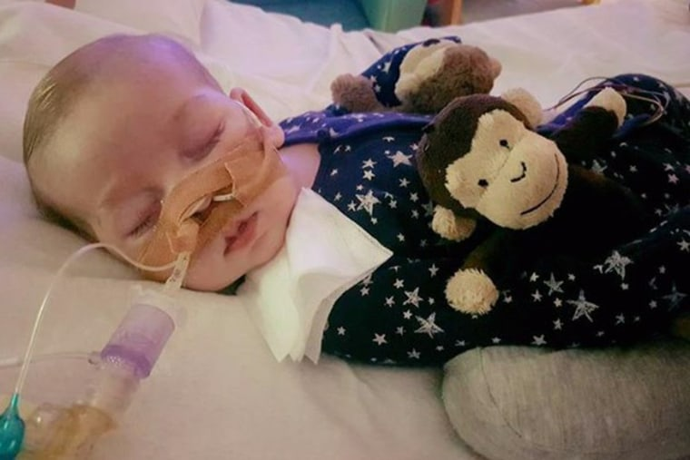 Image: Baby Charlie Gard with his parents, Connie Yates and Chris Gard.