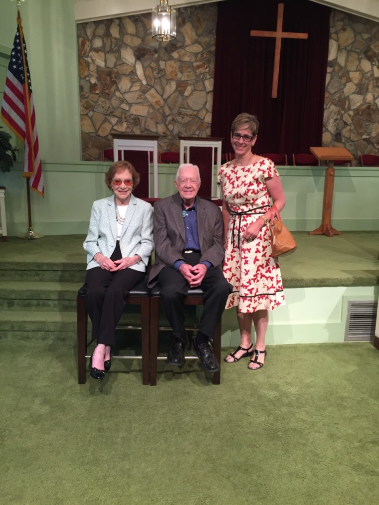 Gretchen Sierra-Zorita with Former President Jimmy Carter and his wife, Rosalynn Carter.