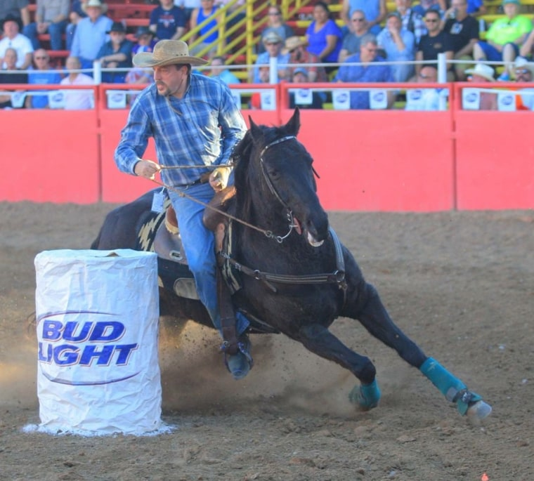 Wade Earp participating in a rodeo event