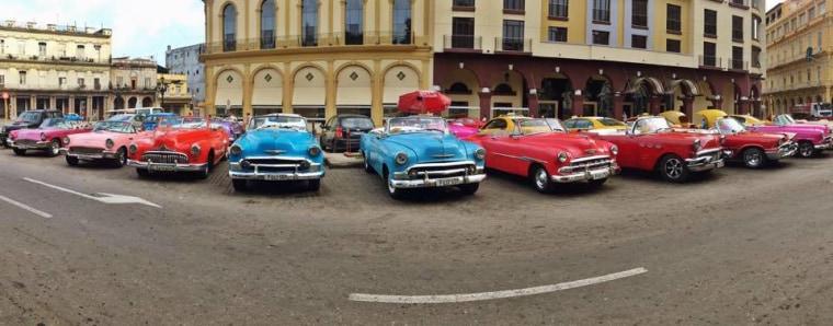 Image: Colectivos Antiguos in Viejo Havana.