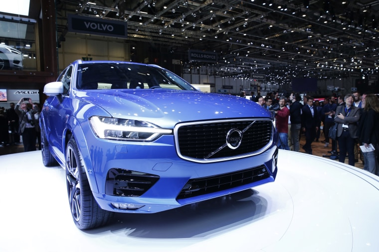 Image: The new Volvo XC60 car is seen during the 87th International Motor Show at Palexpo in Geneva