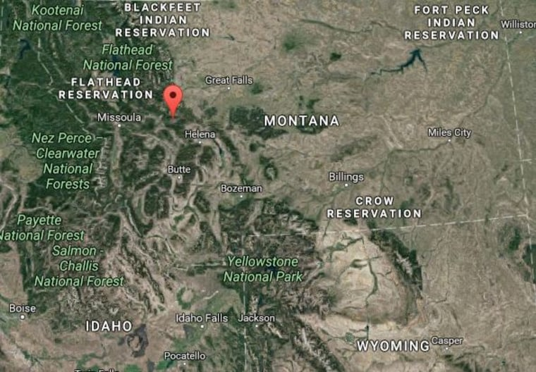 Image: A map shows the settlement of Lincoln, Montana