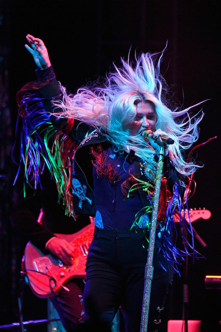Image: Kesha performs in Dover, Delaware