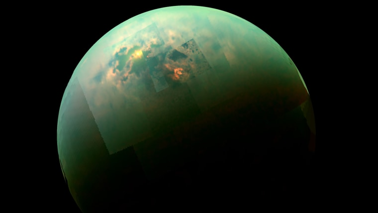 Seas on Saturn Moon Titan