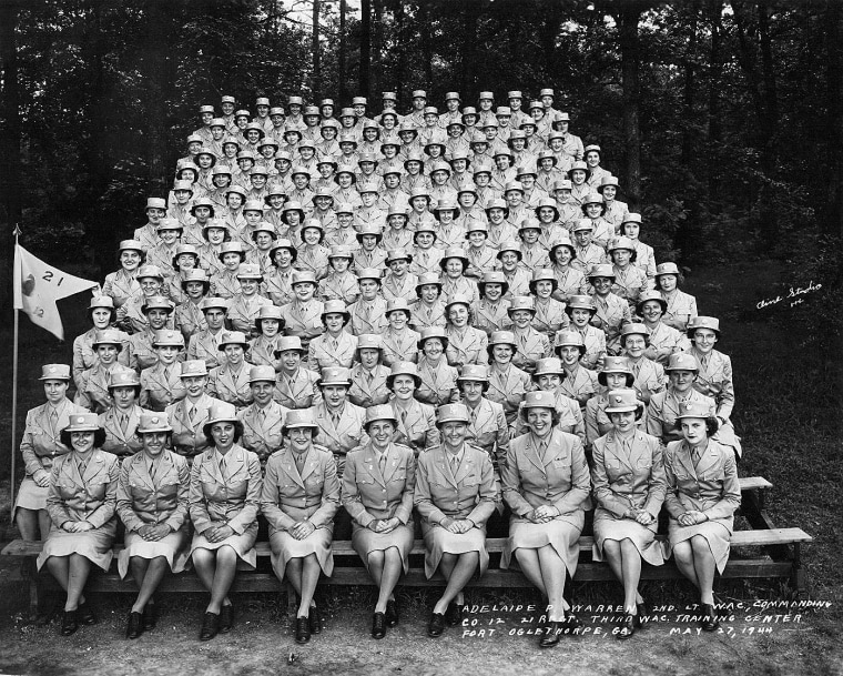 Image: Esther Blake 1944 third WAC training center