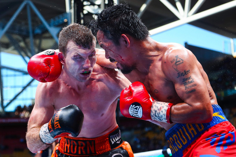 Image: Manny Pacquiao of the Philippines fights Jeff Horn of Australia