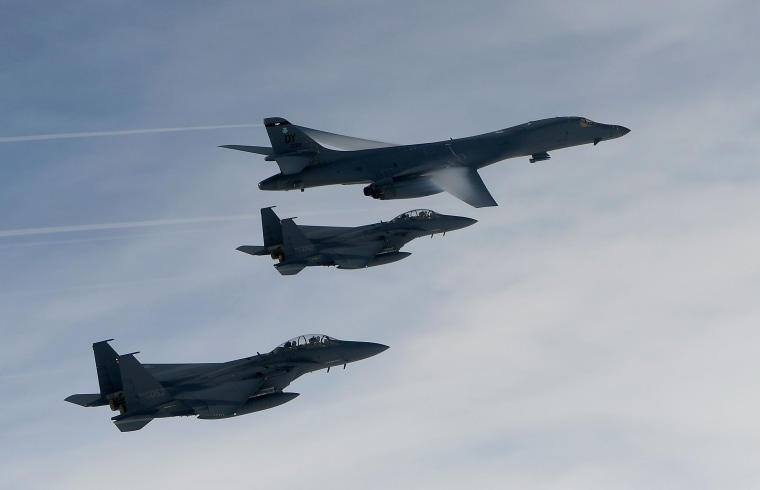 Image: U.S. Sends Two B-1B Bombers To South Korea Following North Korean Ballistic Missile Launch