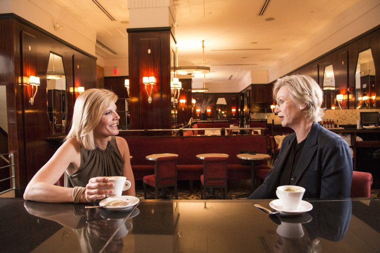 """Actress and comedian Jane Lynch talks to NBC's Kate Snow for the first episode of """"The Drink"""", a new digital series where Kate Snow talks to news makers who've reached the pinnacle of their professions -- all over a drink"""