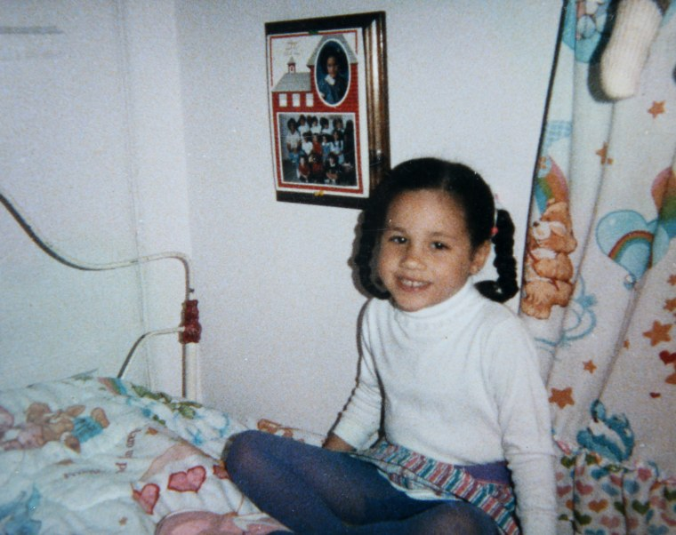 Meghan Markle aged approx 5-6 years