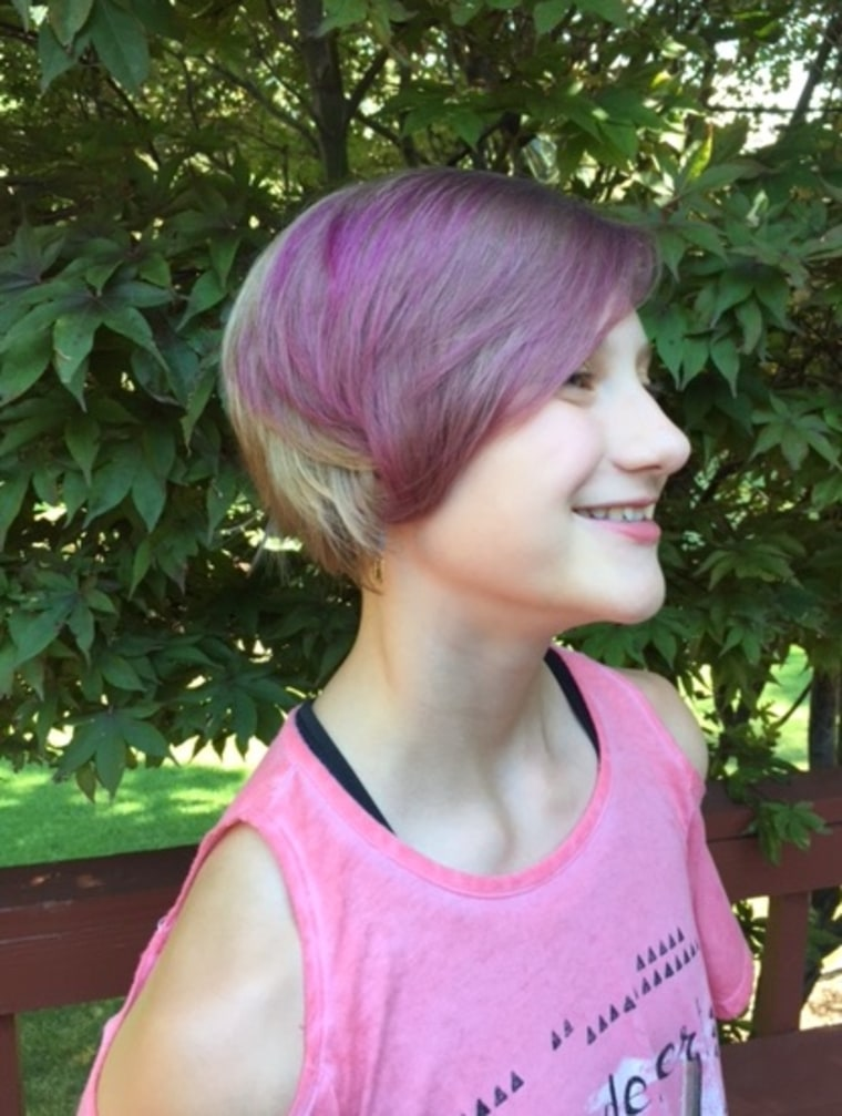 Susan Meyer S 11 Year Old Daughter Abby Colored Her Hair With A