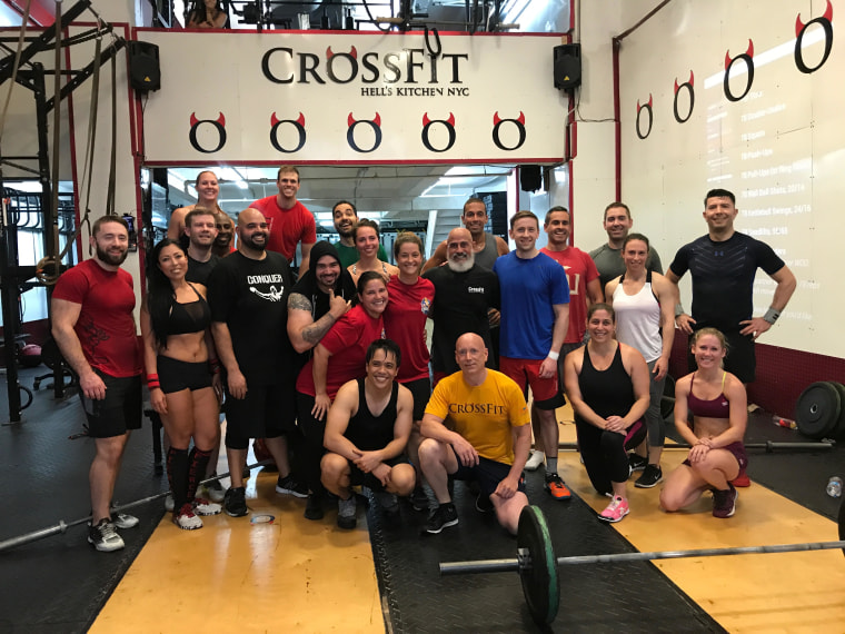 "Nearly two dozen people came to do the ""Jacinto Storm"" workout with Jacinto himself earlier this July at CrossFit Hell's Kitchen in New York City."