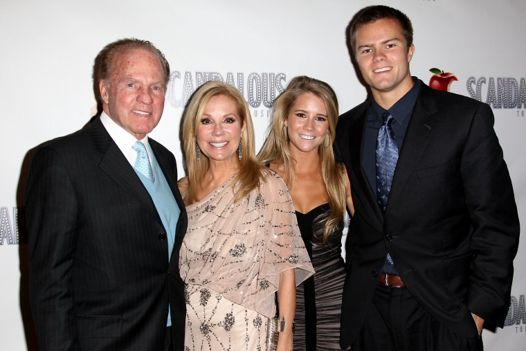 Kathie Lee Gifford with her family in 2012