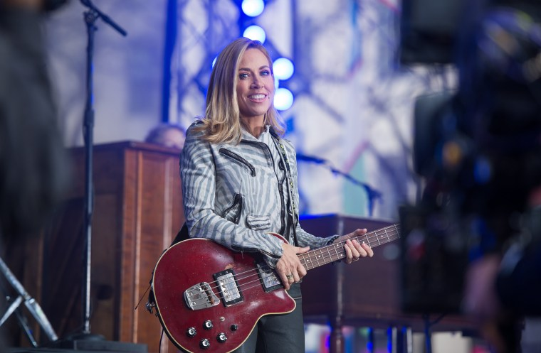 Sheryl Crow performing live on the Today Show plaza
