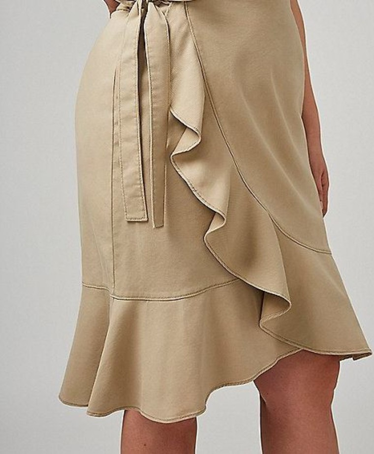 Wrap Skirt With Ruffle
