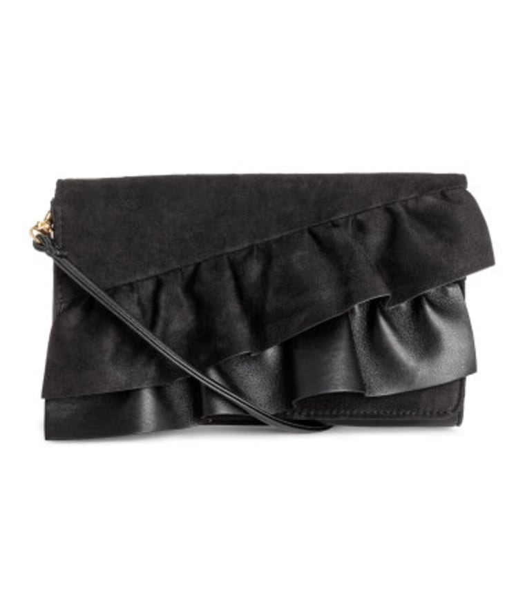 Clutch Bag with Ruffles