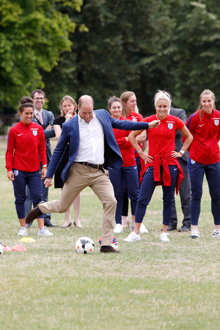 Prince William plays soccer