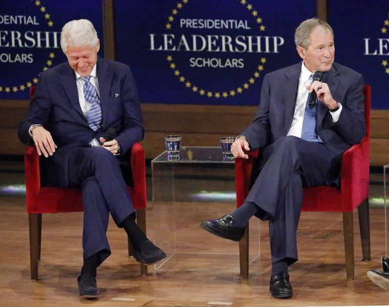 Former Presidents George W. Bush And Bill Clinton Attend Graduation Ceremony Of The 2017 Presidential Leadership Scholars Class