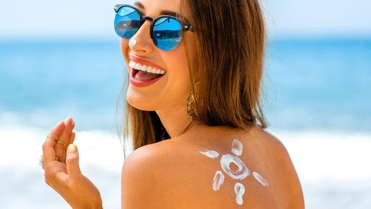 Sunscreen at the beach!