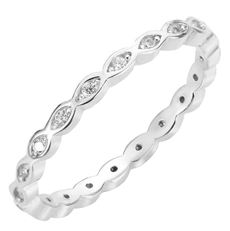 Cubic Zirconia Stackable Endless Eternity Ring