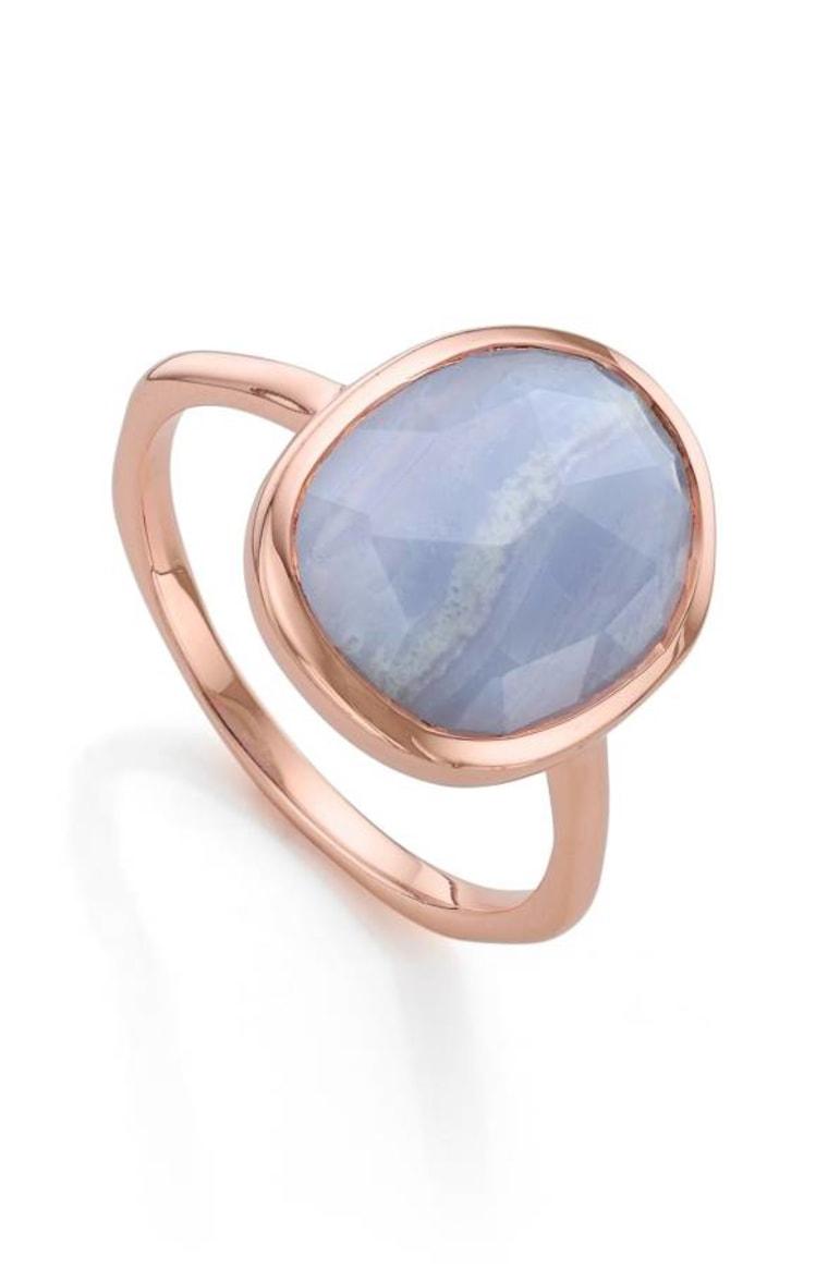'Siren' Medium Semiprecious Stone Stacking Ring