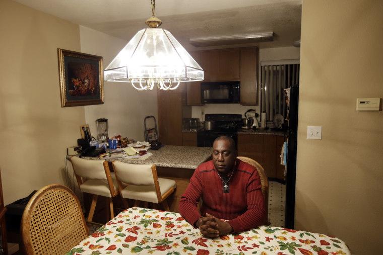 Image: Pastor Yul Dorn inside his home