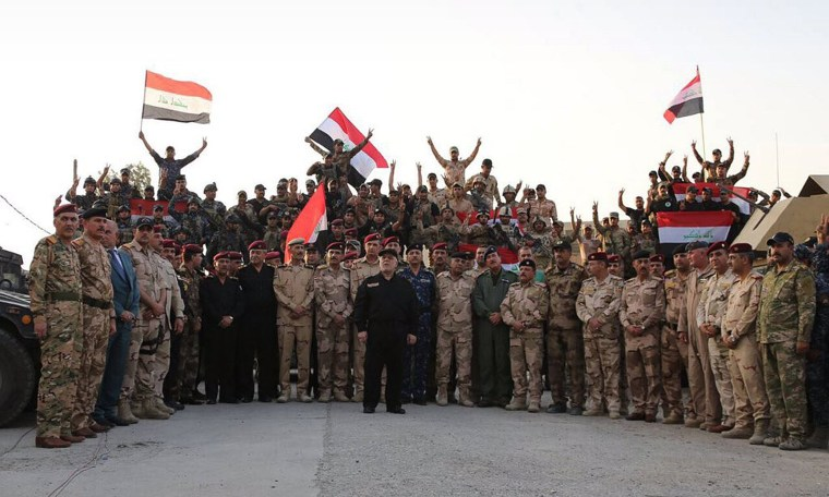 Image: Iraqi Prime Minister Haider al-Abadi declares the liberation of Mosul