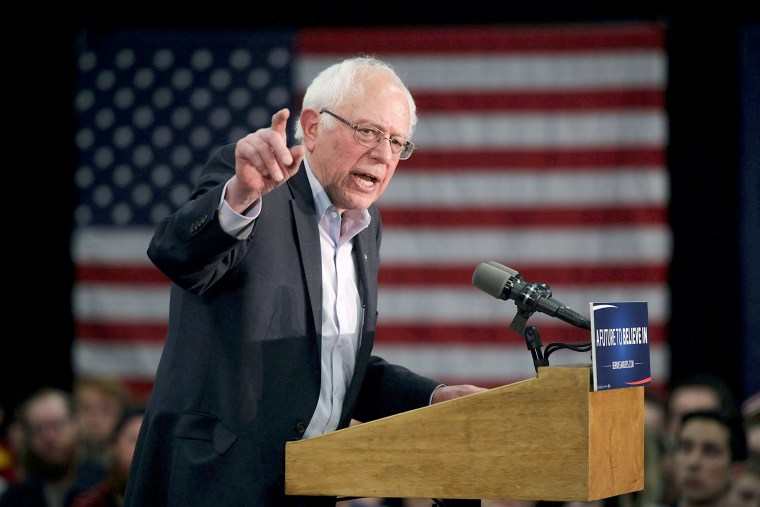 Image: Bernie Sanders Campaigns Across Iowa Ahead Of Caucuses