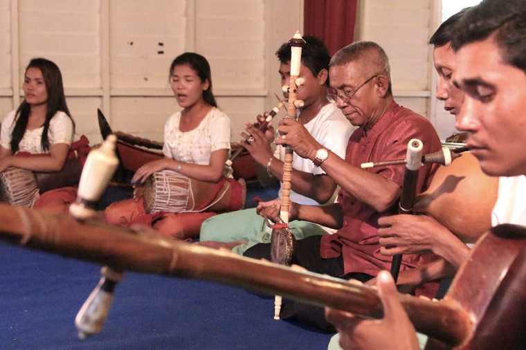 Musicians from the Greater Mekong region and U.S. participate in Cambodian Living Arts's 2016 Nirmita Composers Workshop, the precursor to the Music Residency Project.