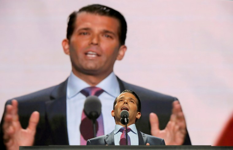 Image: Donald Trump Jr. speaks at the 2016 Republican National Convention in Cleveland