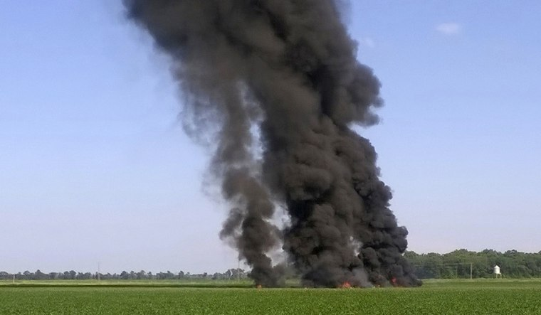 Image: Military Plane Crash