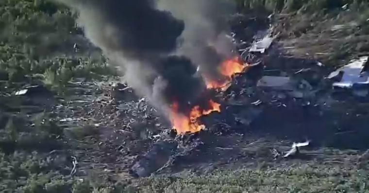 IMAGE: Military C-130 plane crash