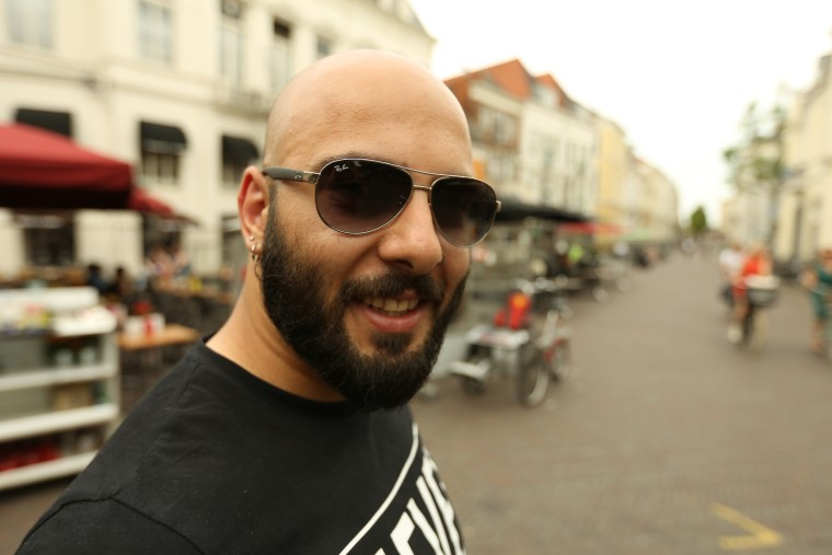 Image: After a five-year, nine-country journey, Saflou says he's adjusting well to his new life in the Netherlands