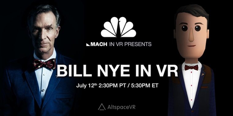 Bill Nye's first foray into VR will take place on July 12