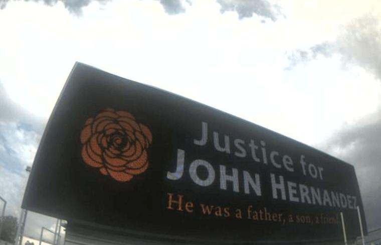 Image: Justice for John Hernandez Billboard