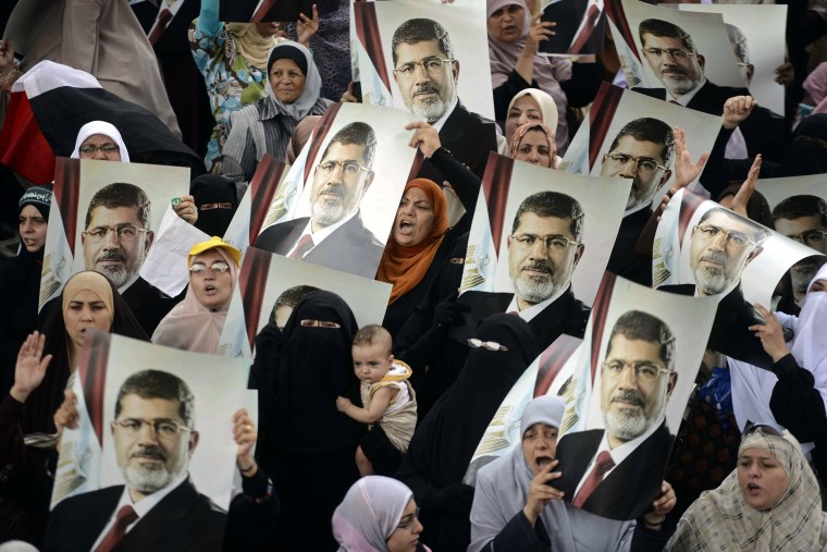 Image: Supporters of Mohamed Morsi
