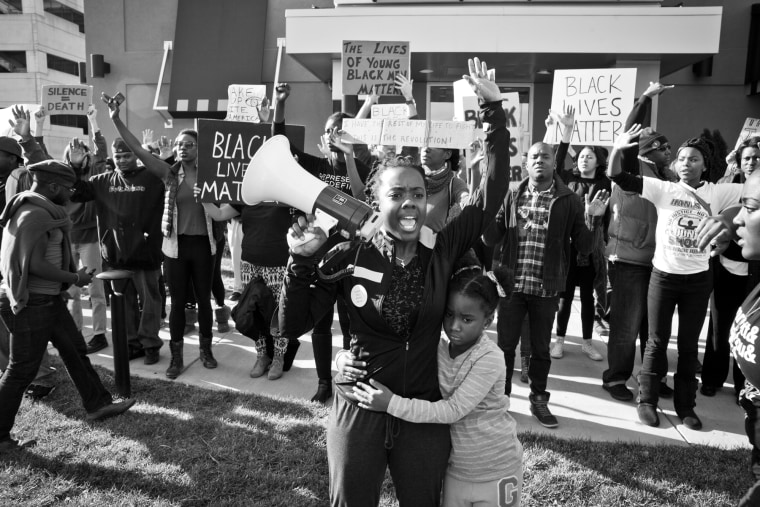 Image: Activist Brittany Ferrell and crowd of protesters in Whose Streets?, a Magnolia Pictures release. Released on August 11th, 2017.