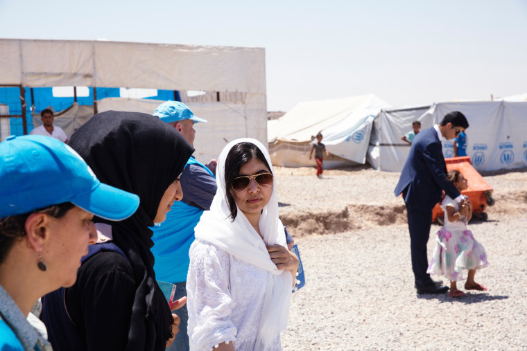 Image: Malala Yousafzai visits Iraqi camp for displaced Mosul residents