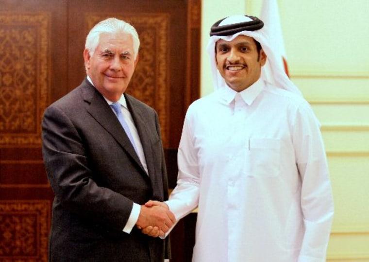Image: Rex Tillerson and Sheikh Mohammed bin Abdulrahman Al Thani
