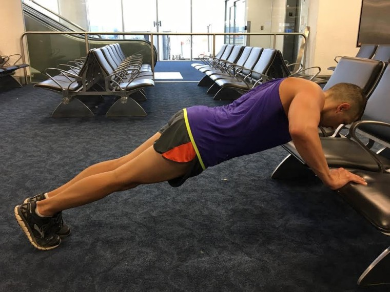 Image: Airport workout