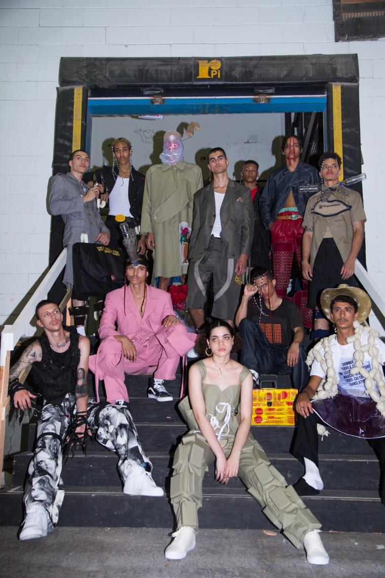 Mexican menswear designer Barbara Sanchez-Kane debuted her first clothing line under her own label SANCHEZ-KANE at New York Fashion Week Men's on July 12, 2017.
