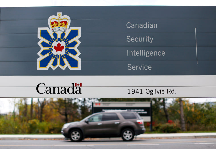 Image: FILE PHOTO: A sign is pictured outside the CSIS headquarters in Ottawa