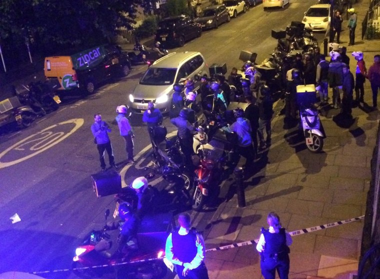 Image: The scene of an acid attack in London