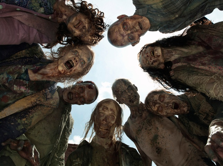 "Image: Zombies from ""The Walking Dead"""