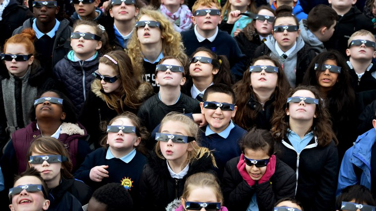 Rare Partial Solar Eclipse Is Viewed Around The UK