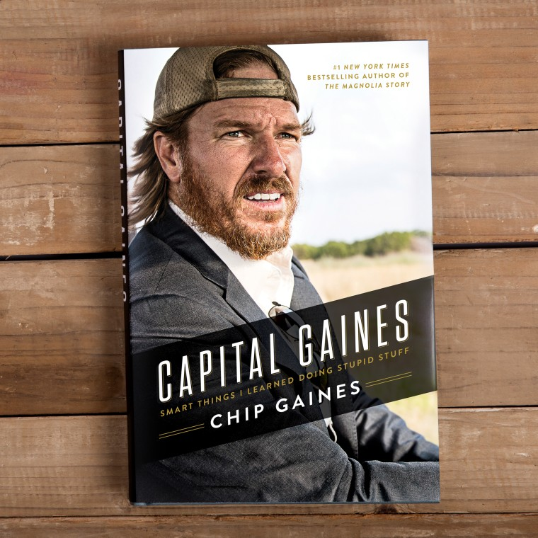 """The cover of Chip Gaines' new book """"Capital Gaines."""""""