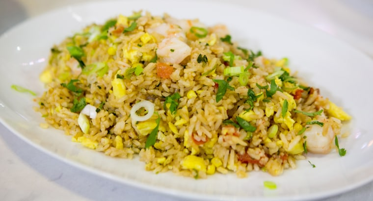 Shrimp fried rice by Kathy Fang