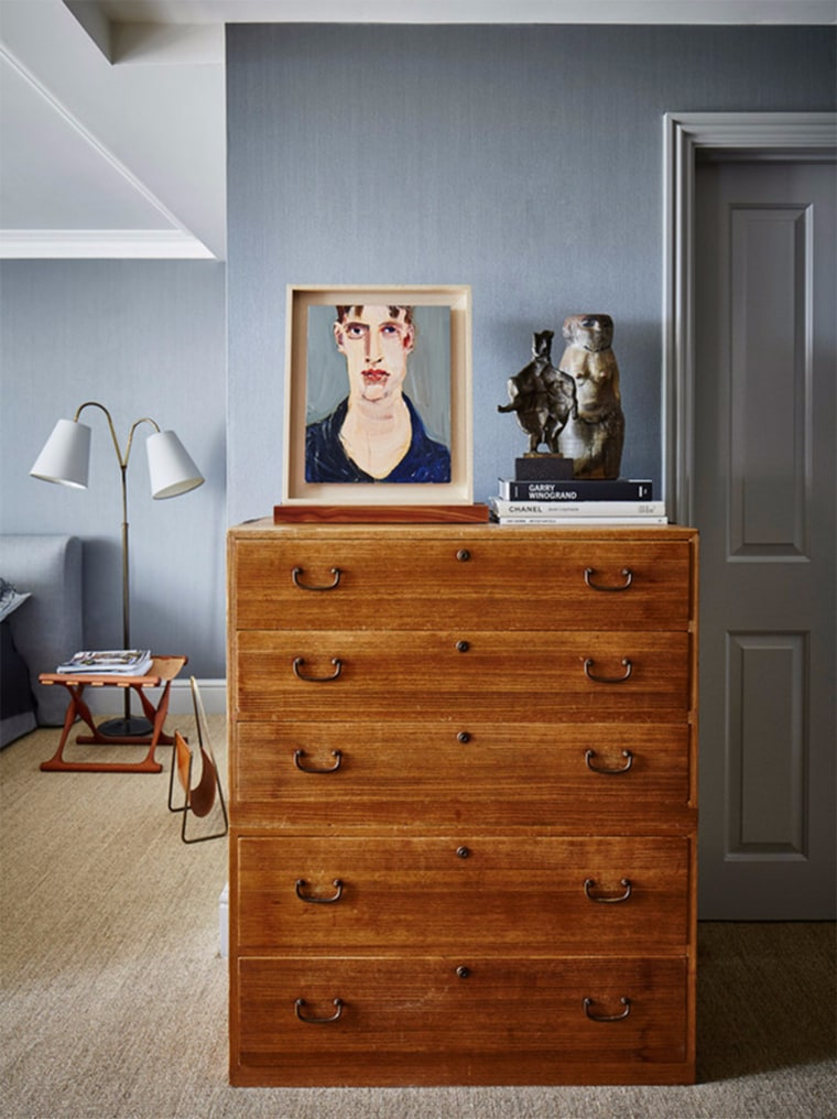 The home is a piece of artwork in itself but it also includes an eclectic collection of artistic works.