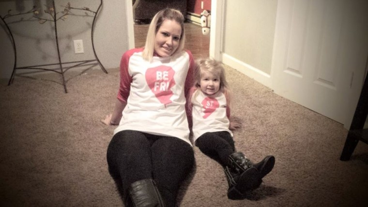 Brittney Johnson and her 4-year-old daughter, Payton